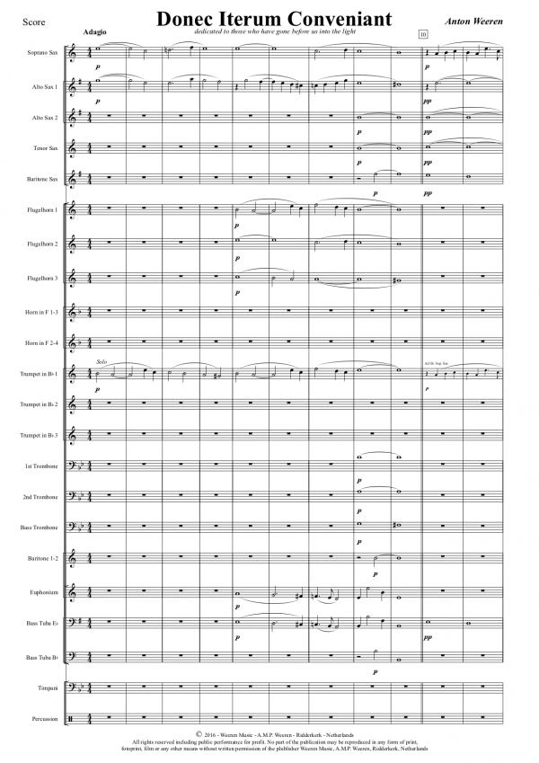 Donec Iterum Conveniant - Anton Weeren - koraalwerk fanfareorkest