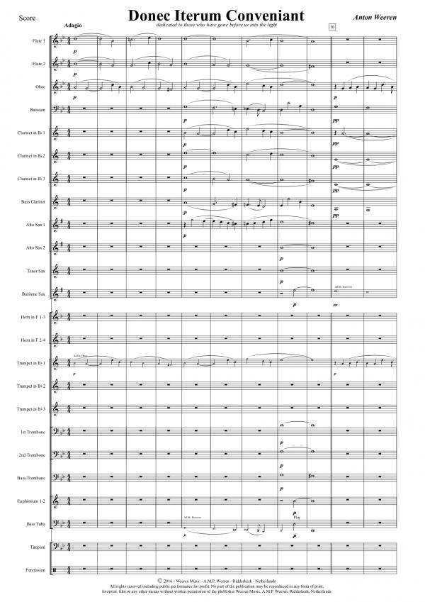 Donec Iterum Conveniant - Anton Weeren - koraalwerk harmonieorkest