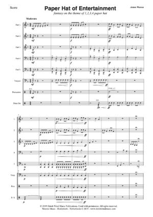 Paper Hat of Entertainment - 5 partijen - Anton Weeren