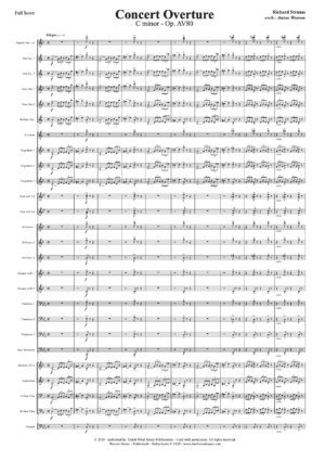 Concert Overture - Richard Strauss - arr. voor fanfareorkest Anton Weeren